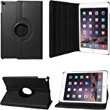 DMG Premium Full 360 Rotating Smart Flip Cover Book Case for Apple iPad Air 2 (Black)
