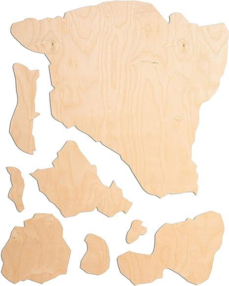 24 Wood hi Circle Shape Cursive Laser Cutout Custom Unfinished