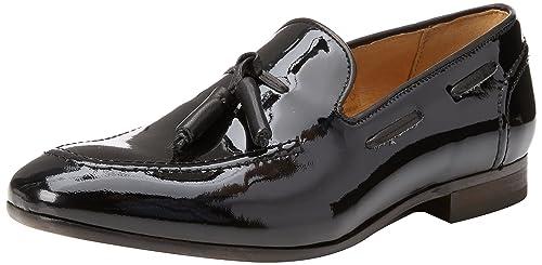 Hudson Mocasines para hombre Negro negro: Amazon.es: Zapatos y complementos