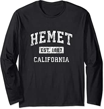 Amazon.com: Hemet California CA Vintage Established Sports ...