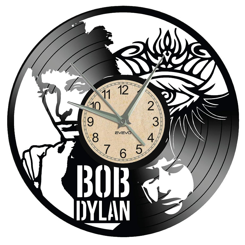WoD Bob Dylan - Reloj de Pared de Vinilo, diseño Retro ...