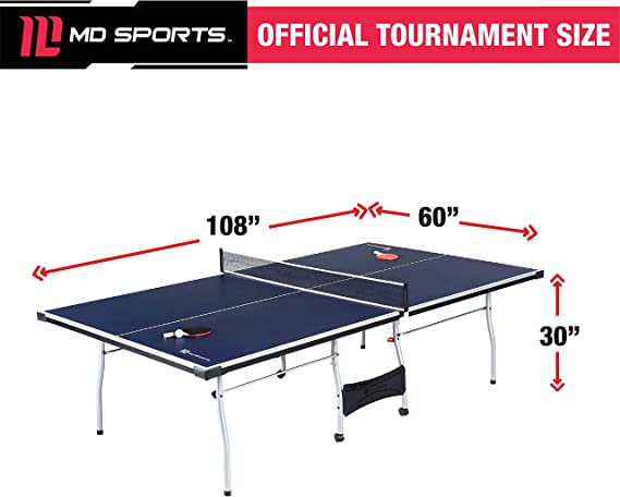 Tennis de Table Ping Pong officiel taille Indoor//Outdoor 4 Pièce Pliable Haut Gaming