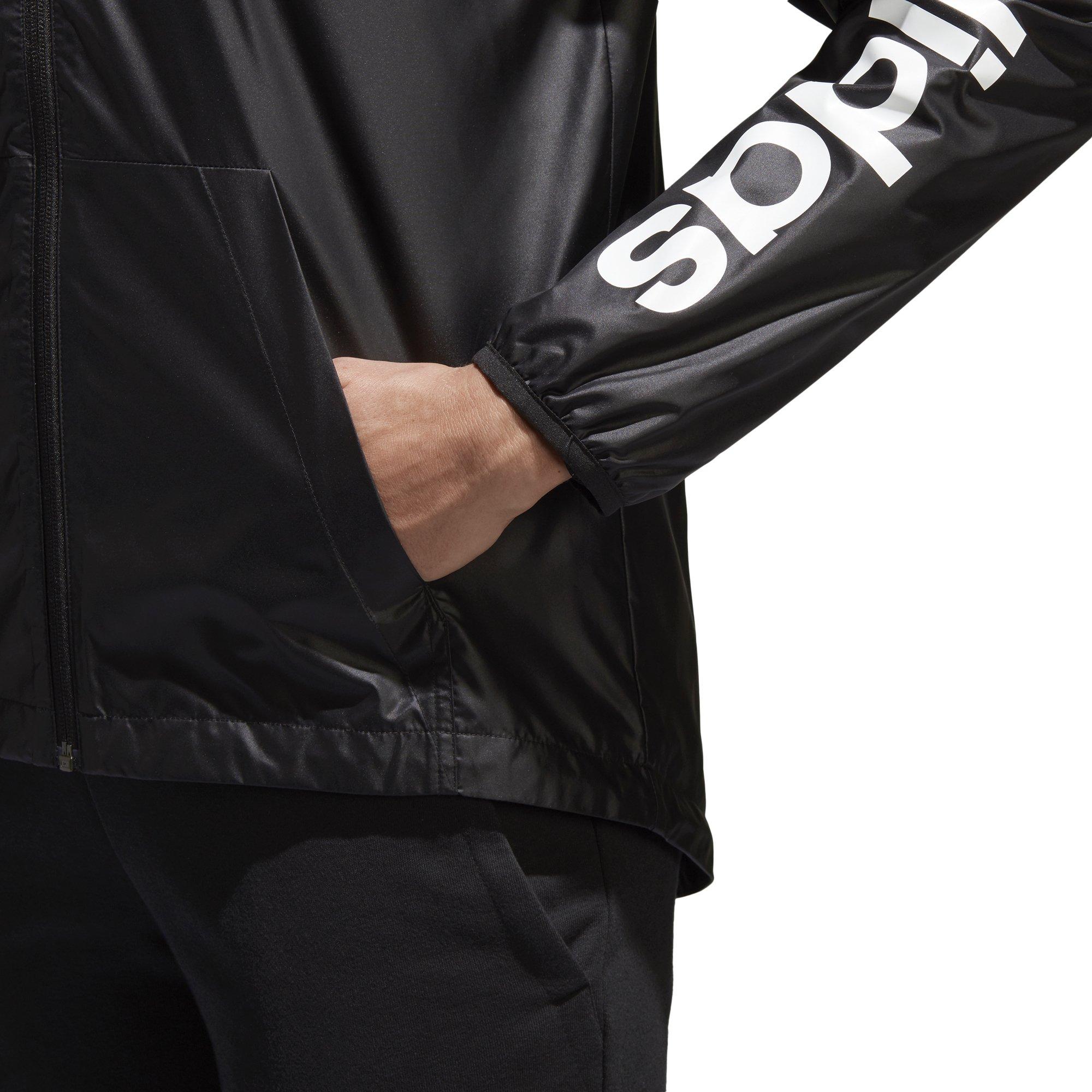 adidas Women's Linear Windbreaker Jacket, Black, Large by adidas (Image #7)