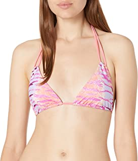 product image for Sauvage Women's Tiger Knotted Triangle Bikini Top