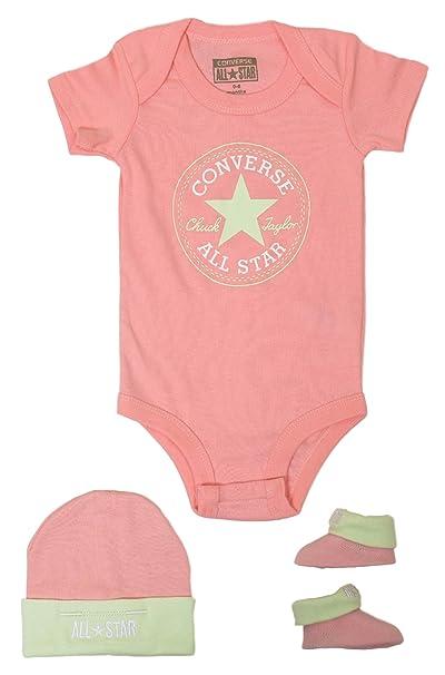 3c8d2dcb8c5e Converse Baby Girls  All Star 3-Piece Set 0-6 Months Pink  Amazon.ca ...