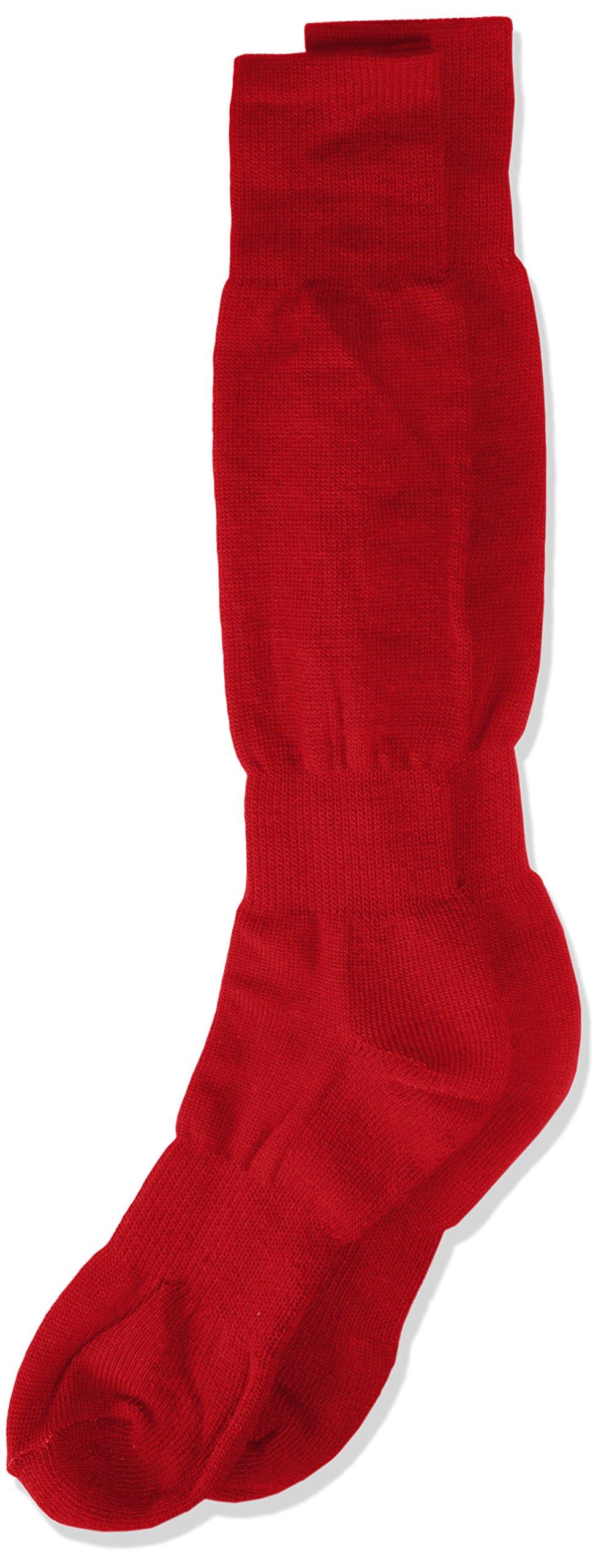 Varsity H/T Baseball Socks, Scarlet, Size 10-13 by TCK