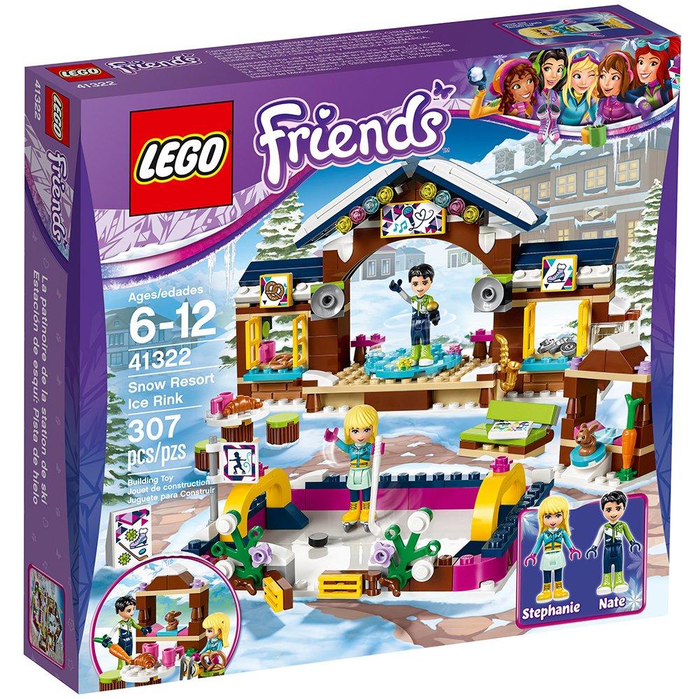 适合6-12岁,LEGO 好朋友系列之 滑雪度假村溜冰场