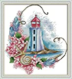 Maydear Full Range of Embroidery Starter Kits Stamped Cross Stitch Kits Beginners for DIY Embroidery (Multiple Pattern…
