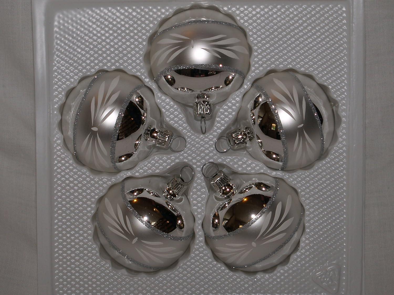 Christbaumschmuck Glocke Antik Silber 5cm Jingle Bells Lauscha