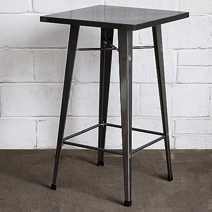 Stupendous Marko Furniture Laus Square High Bar Table Metal Top Customarchery Wood Chair Design Ideas Customarcherynet