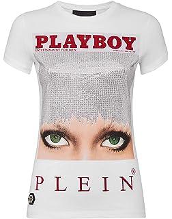 Philipp Plein Damen MCBI35838 Weiss Baumwolle T Shirt