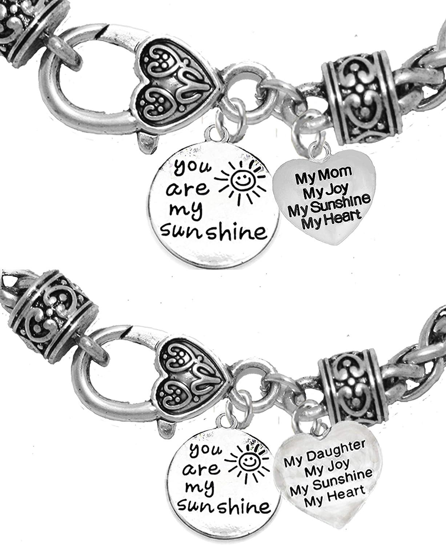 My Joy Safe-Nickel Hypoallergenic Mom Adjustable Bracelet Free My Mom Lead My Sunshine I Will Love You Forever My Heart
