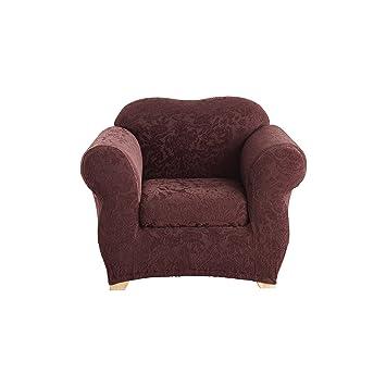 Amazon.com: Sure Fit 2 pieza Stretch sofá Slipcover Jacquard ...