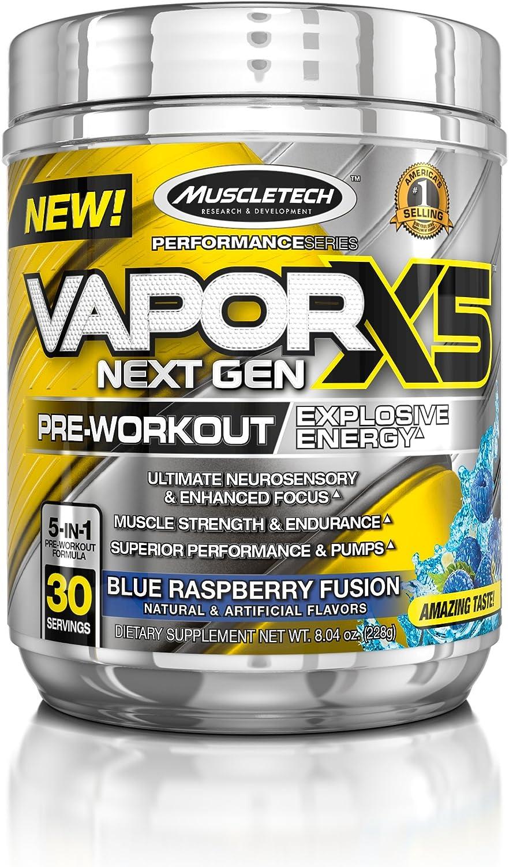 Muscletech Performance Series Vapor X5 Next Gen Blue Raspberry Fusion - 240 gr