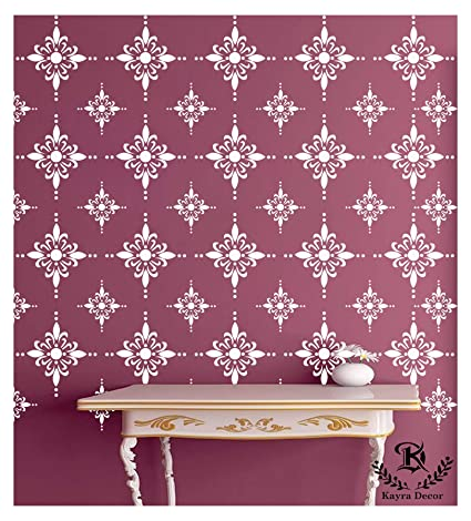 Kayra Decor Reusable Diy Wall Stencil Painting For Home Decoration Pvc 16 Inch X 24 Inch