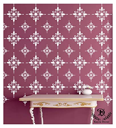 Kayra Decor Reusable DIY Wall Stencil Painting for Home Decoration (PVC,  16,inch x 24,inch)