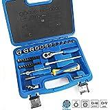 """S&R Hobby Set chiave a tubo / bussole 39 pz. 1/4 """"profilo BLOCCO-Drive in scatola di plastica, scatola cricchetto cassetta portautensili 1/4 prezzo introduttivo hobby-Line."""