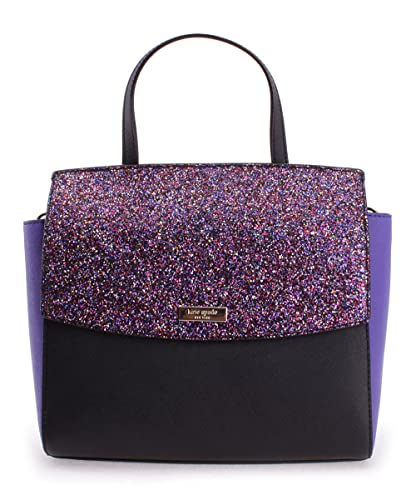 6a5a3feed Amazon.com: Kate Spade Glitter Alisanne Laurel Way Satchel Black Purple:  Shoes