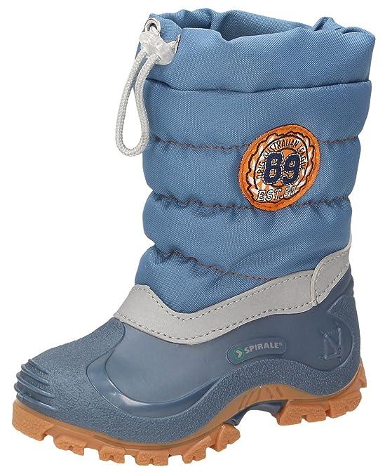 SpiraleERIC - botas de nieve niños, color azul, talla 22
