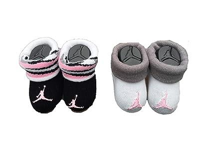 25624bc23fdac Nike Jordan Lot de 2 paires de Chaussons Bébé Nourrisson Nouveau-Né avec  signe quot