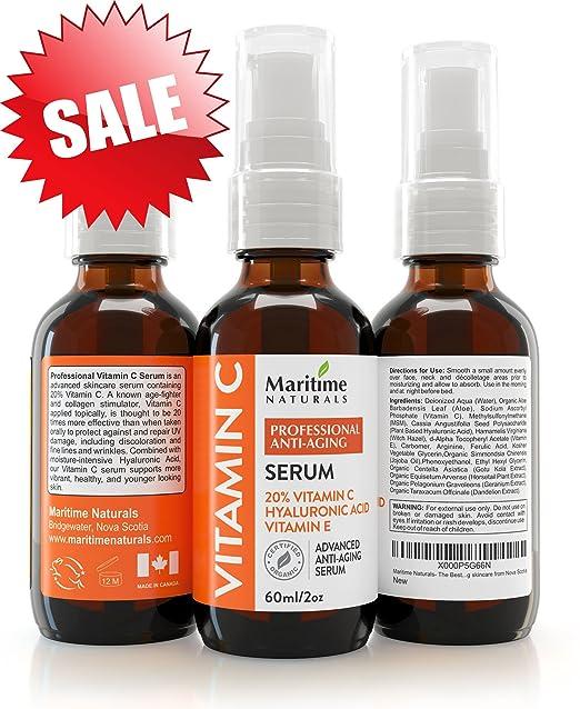180 opinioni per Siero alla vitamina C 20% , Enorme 60 ml Completamente organico , Vitamina E,