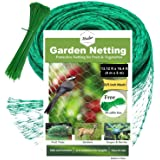 Hselar Best Bird Garden Netting - Protect Plants Fruit Trees, Blueberries, Squirrels Agriculture - 13.12Ft x 16.4Ft Anti Bird Netting 50 Pcs Nylon Cable Ties - Reusable Instantly (Small Size)