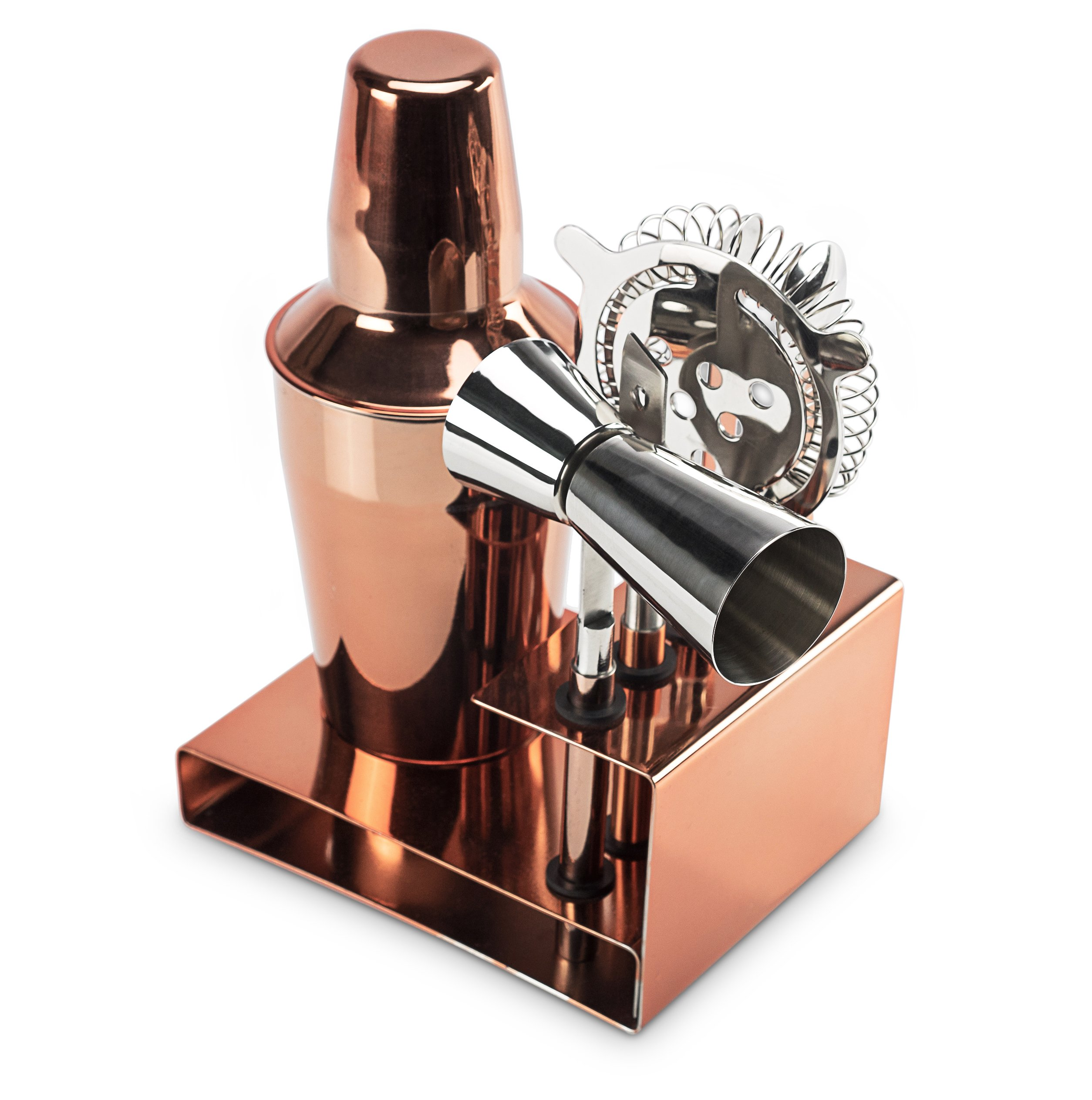 Miko Premium Cocktail Bar Set, High Grade Stainless Steel 6 Piece Set, Made In India (Rose Gold) by Miko (Image #3)