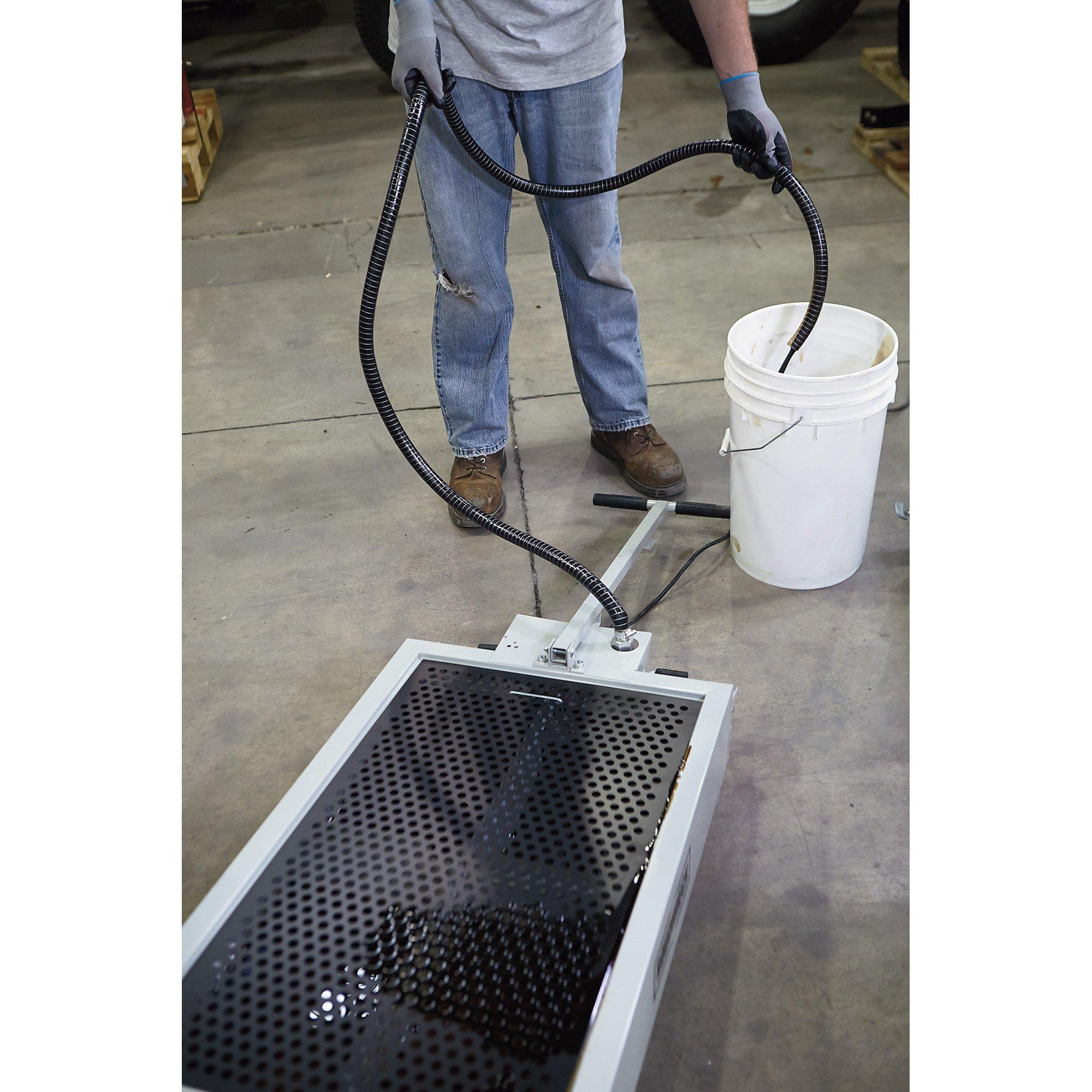 Roughneck Low-Profile Oil Drain - 15-Gallon, 110 Volt, 2.5 GPM Pump, Steel by Roughneck