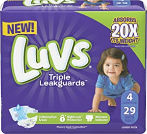 Luvs Triple Leakguards Diapers Size 4 29 Count