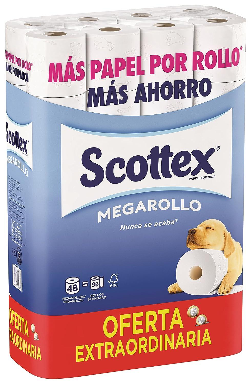 Scottex Megarollo 4233386–Lot de 48 rouleaux de papier toilette