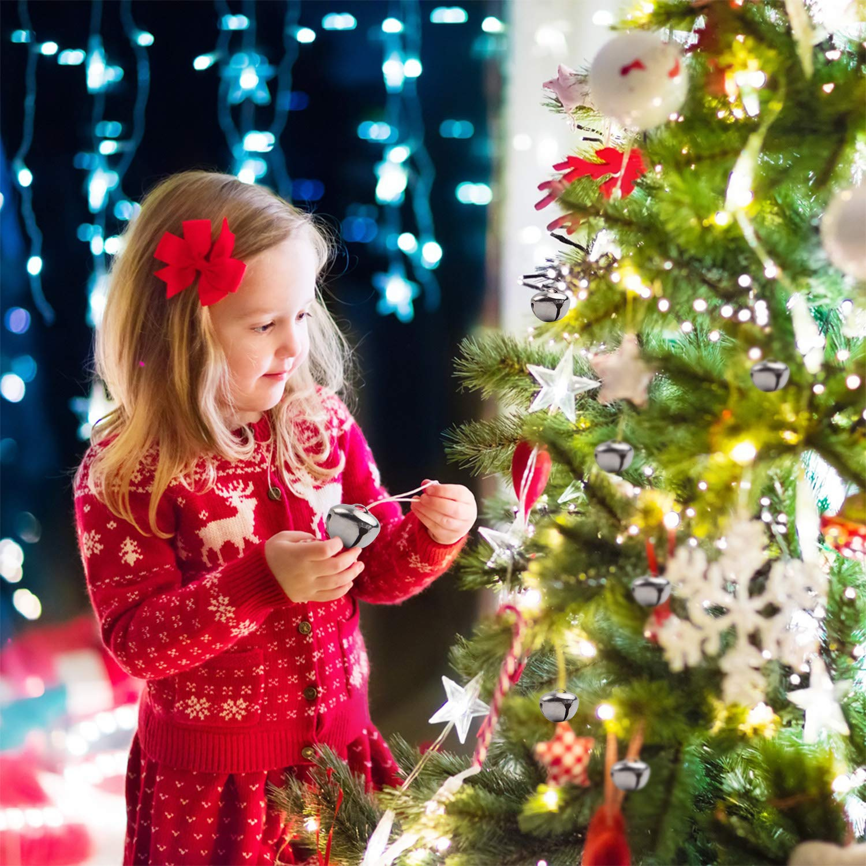 BronaGrand 50pcs Jingle Bells 1 Inch Craft Bells Bulk DIY Bells for Christmas Festival Decoration Home Decoration