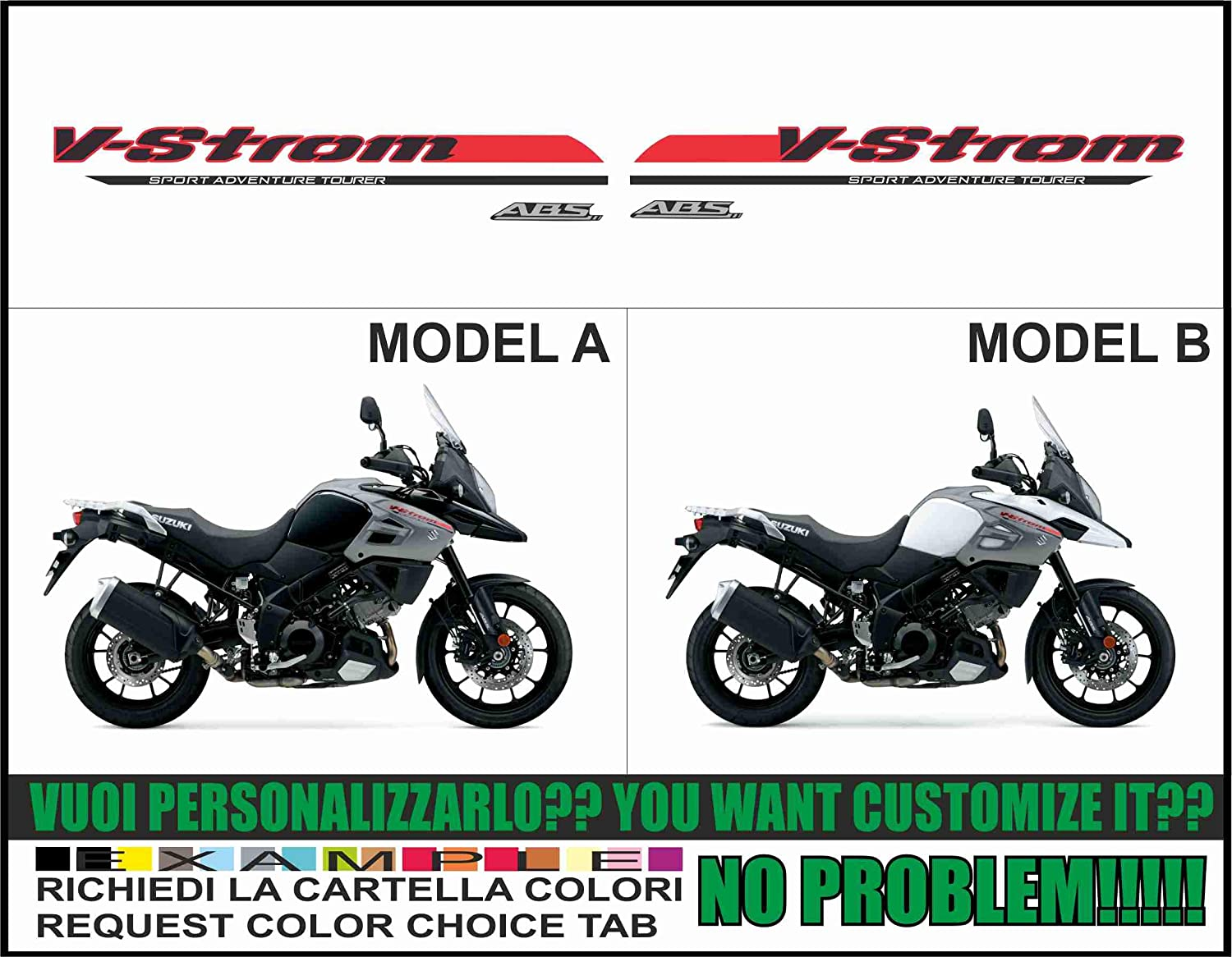 Kit adesivi Decal Stikers Suzuki V-Strom DL 1000 2017 2018: Amazon.es: Coche y moto