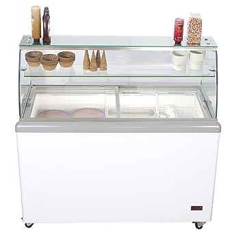Chefs Exclusivo Comercial 8 Sabor Frost helado Dipping Gabinete ...