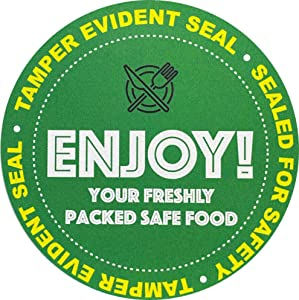 InStockLabels 500 Green Circle Tamper-Evident Food Seal Stickers, Labels for Food Containers (2.5 Inches)