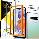 [2+2 Pack] BAZO Tempered Glass Screen Protector and Camera Lens Protector for LG Stylo 6, [Anti-Scratch] [Alignment Easy Inst