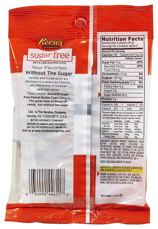 sugar free reeses miniature peanut butter cups