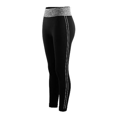 Libella Legging pour femme Pantalon de course à pied Pantalon de sport  respirant Pantalon de Yoga Fitness Taille haute Long Rayures 4137 126f785f445