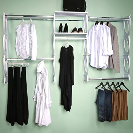 KiO Closet Organizer System   Professional Grade   Revolutionary Single  Track Design For Easy Installation