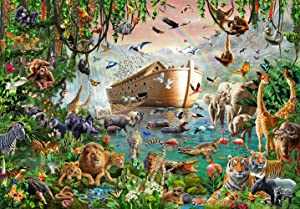 Jigsaw Puzzles 1000 Piece for Adults for Kids– 1000 Piece Puzzles for Adults – Noah's Ark - Premium Quality Puzzle Game Toys – Includes Image Poster – Missing Piece Support – Relaxing Hobby