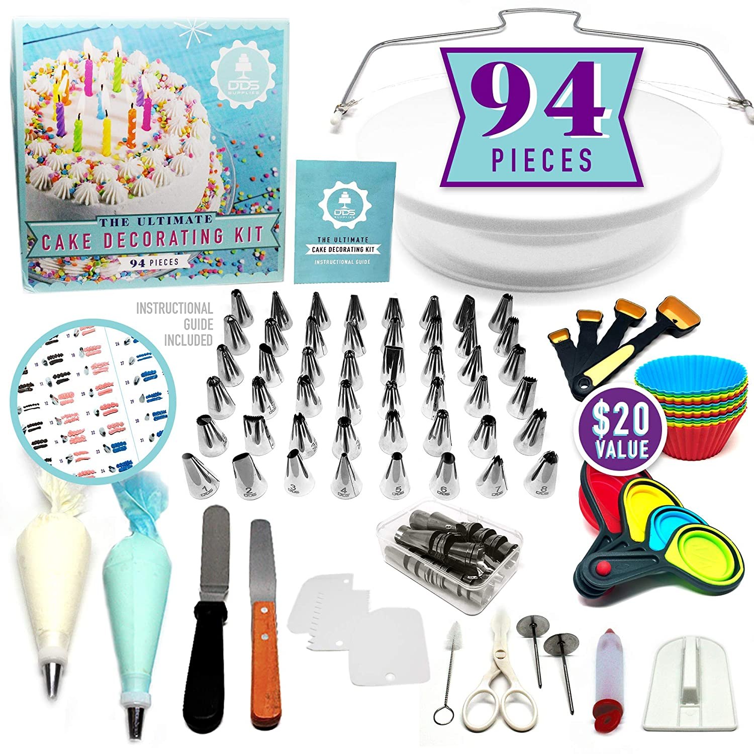 94pc Ultimate Cake Decorating Supplies Kit,
