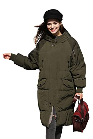 97fb85da49f Winter Jacket Coat Women Puffer Anorak Long Coat Quilted Snow Warm Parka  Down Hooded Top Sleeve
