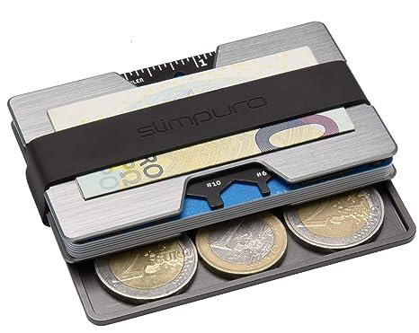 data di rilascio: 6adf8 a98ea Portatessere e Porta Carte di Credito Piatto in Alluminio, Portabanconote e  Monete | anti RFID NFC | Portafogli Sottile