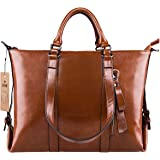 S-ZONE 3-Way Ladies Women's Cow Split Leather Tote Bag Handbag Shoulder Bags