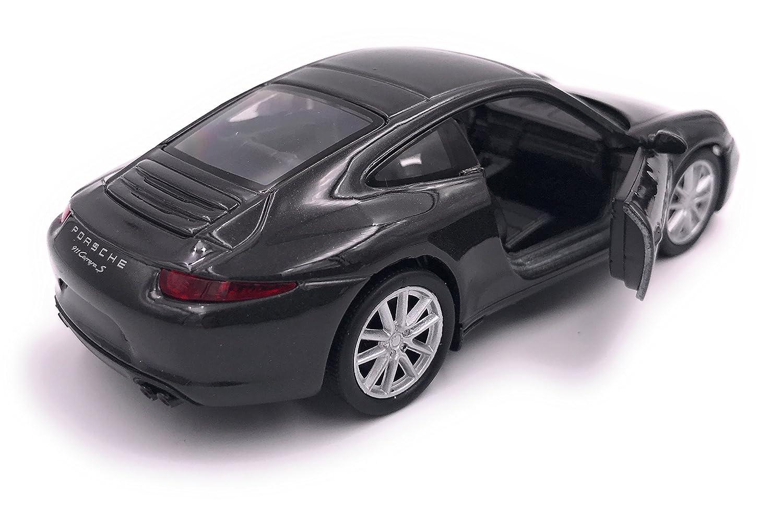 H-Customs Welly Porsche 911 Carrera S Modellauto Auto LIZENZPRODUKT 1:34-1:39 Schwarz