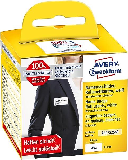Avery España AS0722560. Rollo de 200 Identificativos adhesivos ...