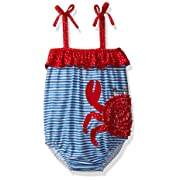 Mud Pie Baby Girls' Swimsuit One Piece, Crab, 0-6 Months