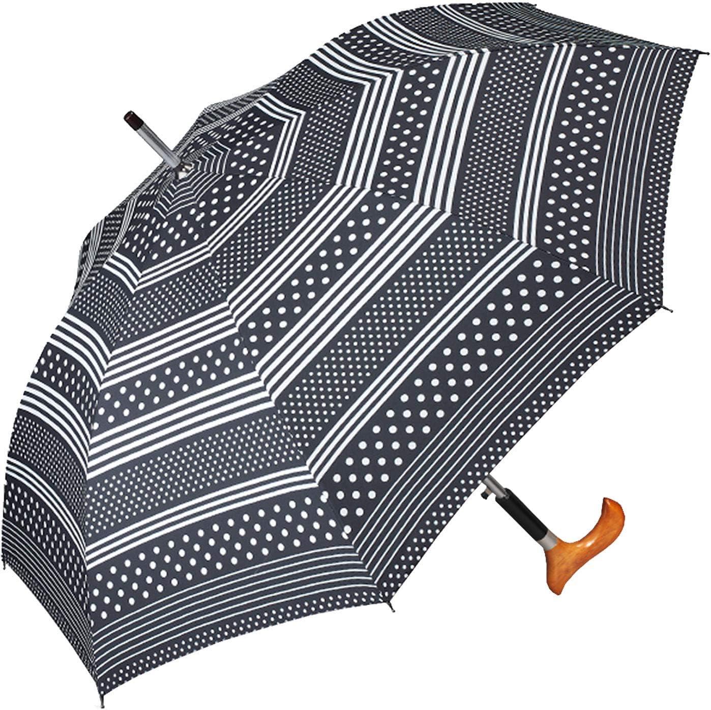Parapluie Cannes Femme Multicolore Schwarz-wei/ß 105 cm happy rain selection