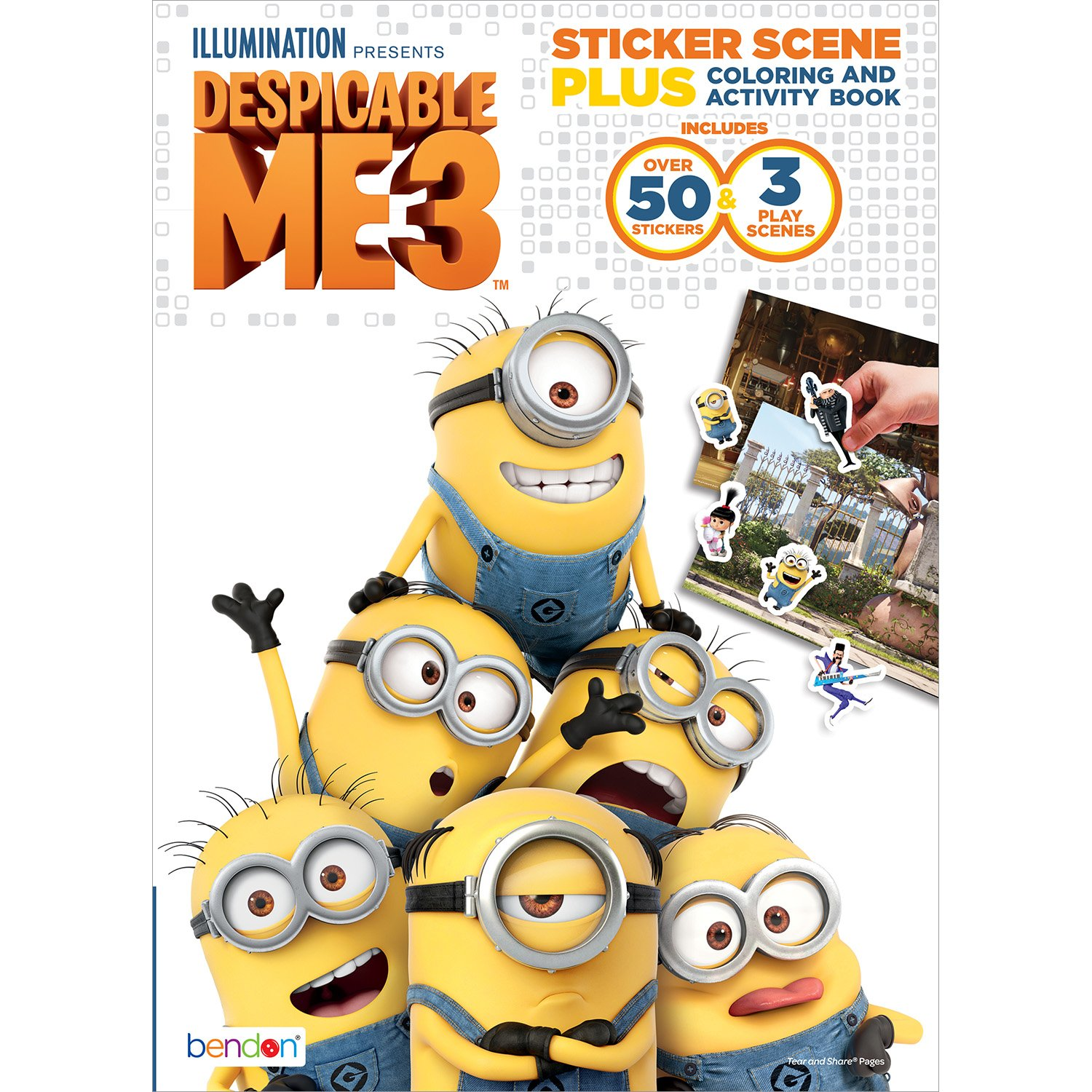 Amazon Bendon Despicable Me 3 Sticker Scene Plus Activity