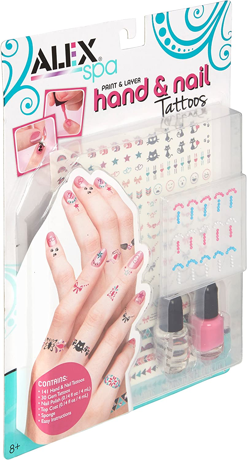 Amazon Com Alex Spa Paint And Layer Hand And Nail Tattoos Girls Fashion Activity Toys Games