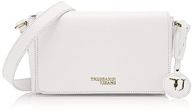 1405e13a0a Trussardi Jeans T- Easy Light Cacciatora, Sac à bandoulière Femme, Blanc  (Off